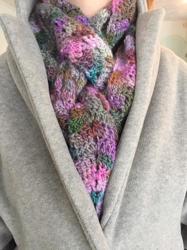 Gehaakte lange sjaal6