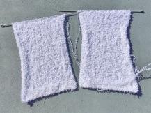 Wit gebreid vest