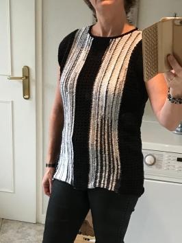 zwart-wit shirt breien 13